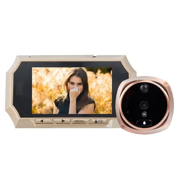 4.3inch video peephole camera door viewer IR Night vision PIR Motion Detection video eye Photos Taking Video Recording Max 32GB
