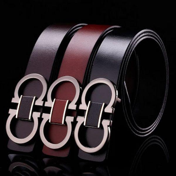 Nouveaux hommes 8 ceintures bouton Haute qualité en cuir designer ceintuur designer ceinture pour hommes ceintures en peau de vache noir 105-125cm livraison gratuite