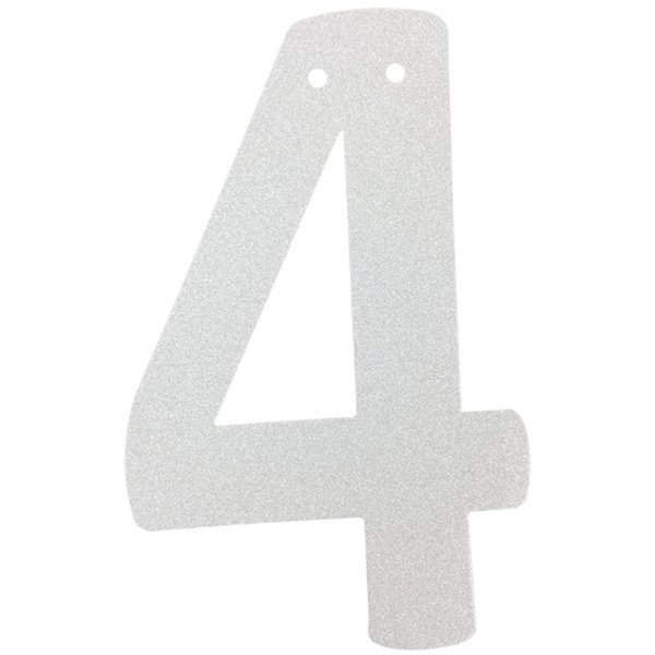 """Wholesale- (1pc Only) 6"""" Wedding Supplies Personalized Silver Glitter DIY Number Banner Garland for Baby Shower Birthday Party Decorations"""