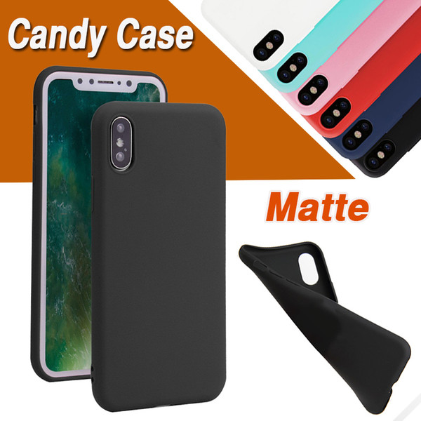 Candy Color Ultra Slim Matte Frosted Soft TPU Gel Silicone Rubber Cover Case For iPhone 11 Pro Max XS XR X 8 7 6 6S Plus 5 5S Anti-knock