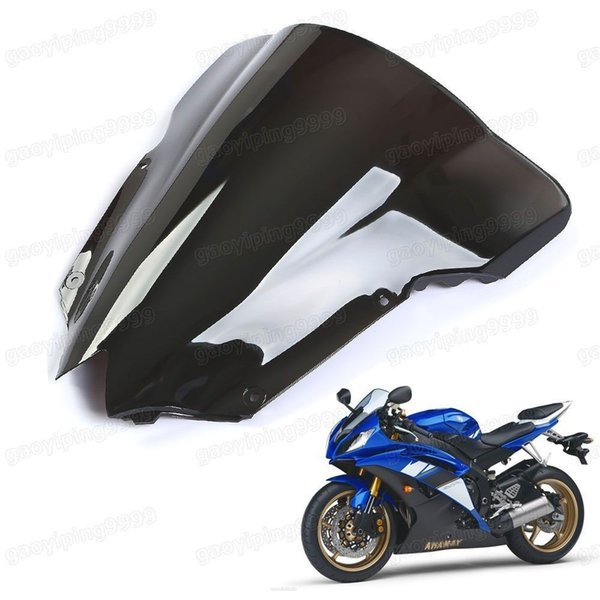 1 Pcs New Motorcycle Double Bubble Windscreen Fairing Windshield Lens ABS for Yamaha YZF-R6 2008-2014
