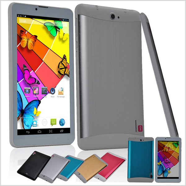 top popular 7 Inch 3G Phablet Android 4.4 MTK6572 Dual Core 1.5GHz 512MB RAM 4GB ROM 3G Phone Call GPS Bluetooth WIFI WCDMA Tablet PC 706 MQ5 2019