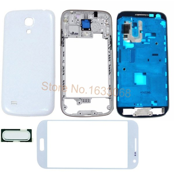 For Samsung Galaxy S4 Mini I9190 I9195 Original New Full Housing Front Frame Middle Bezel Cover Full Case Housing Body Tracking NO.