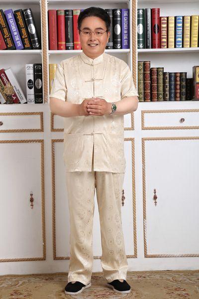 Storia di Shanghai Manica corta cinese tradizionale Clohting cinese kung fu Tai Chi Uniformi per coppia Artes Marciais 6 Style