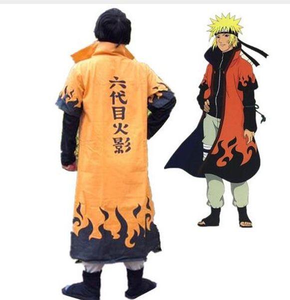 Anime Naruto Cosplay Costumes Six Yondaime Hokage Namikaze Minato Cloak Hatake Kakashi Naruto Cape Outfit