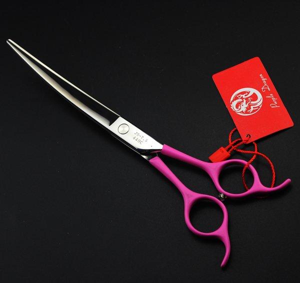 608# 7.5'' 21cm Brand Purple Dragon TOP GRADE Big Gem Hairdressing Scissors 440C Cats Dogs Pets Cutting Scissors Animal Shears
