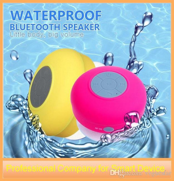 Smart Home Portable Mini Waterproof Wireless Bluetooth Speaker Shower Hands-free Suction Cup In-car Built-in Microphone for iPhone Samsung