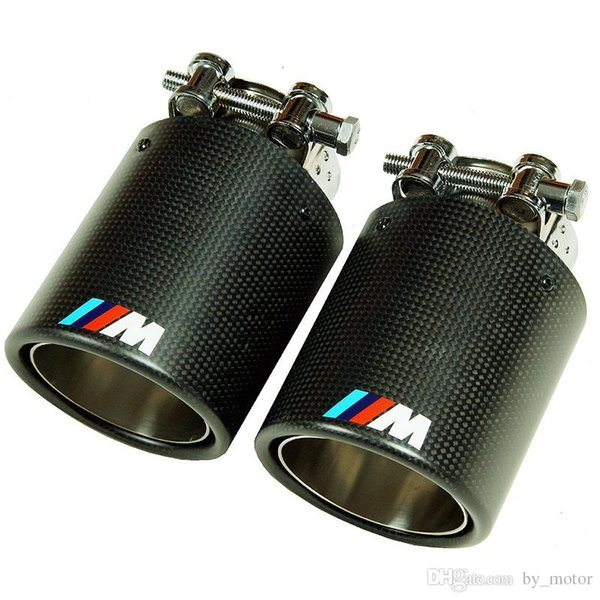 ///M sport Style Real Carbon Fiber Quad Exhaust Muffler Tips Pip 1pair M3 M4 M5 M6 M1 1 3 5 7 SERIES FOR BMW
