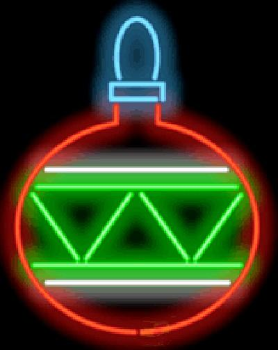"""Christmas Bulb Neon Sign Real Glass Tube Light Pub Birthday Festival Holiday Celebrating Display Advertising Custom Handcrafted Sign 24""""X30"""""""