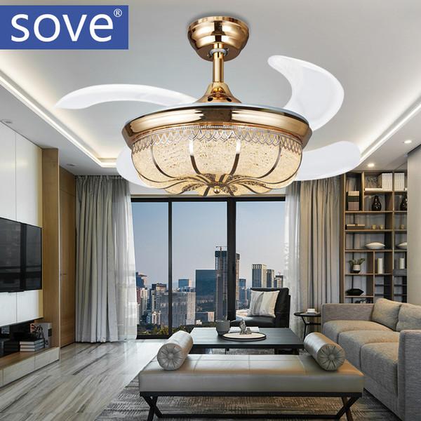Acquista Ventilatore Da Soffitto A Led Moderno A 36 Pollici Con Luci