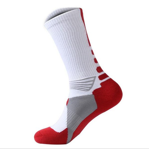 best selling 2016 fashion wholesale cheap high quality hot selling mens cushion sole basketball sock man sports socks