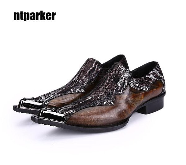 New Designer Leather Shoes Ponited Toe Formal Dress Leather Shoes for Man Business/Wedding/Club, EU38-46!