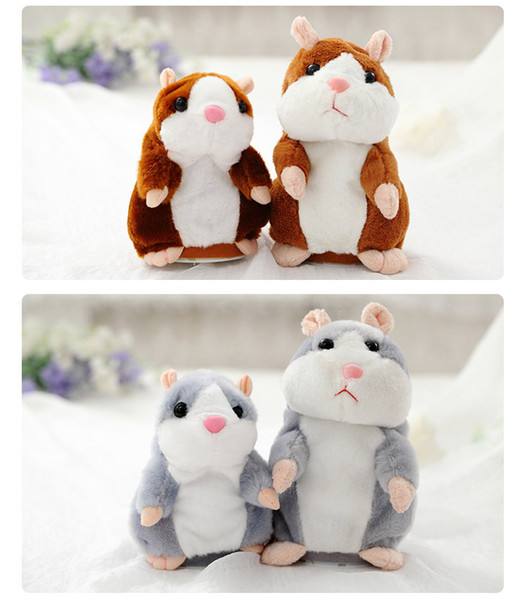 3 Colors New Free Shipping Hot Sale Talking Hamster From China Mouse Pet Plush Toy Birthday Gift for Kids