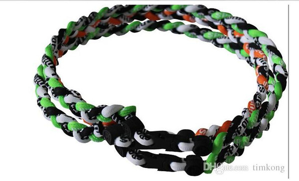 "best selling hot all things ropes tornado braided teams titanium necklace baseball football many colors size 18"" 20"" 22"""