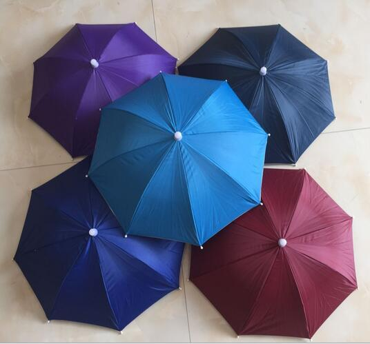 top popular Fashion Hot Usefull Umbrella Hat Sun Shade Camping Fishing Hiking Festivals Outdoor Brolly 2021