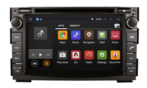 Android 7.1 Car DVD Player for Kia Ceed 2010 2011 2012 with GPS Navigation Radio Bluetooth TV USB WIFI Audio Video Stereo