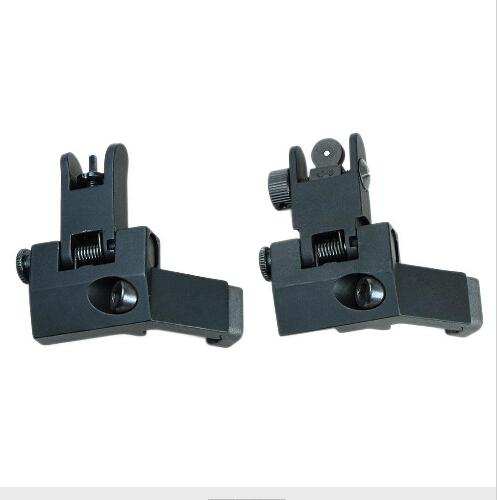 BUIS Backup Front Rear Flip Up 45 Degree Offset Rapid Transition Iron Sight