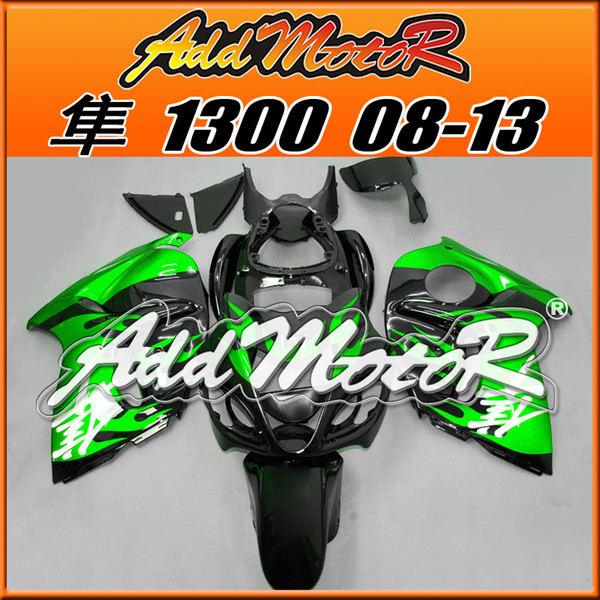 Best Selling Fairings Addmotor Injection Mold Plastic For Suzuki GSXR1300 Hayabusa 08-14 Green Black S3807 +5 Free Gifts Best Chioce