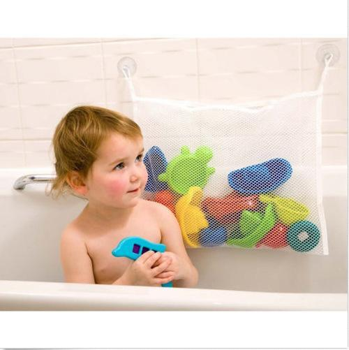 Bath Toys UK Baby Bath Toy Tidy Storage Net Suction Cup Bag Mesh Shower Bathroom Organiser Baby Bathing/Grooming