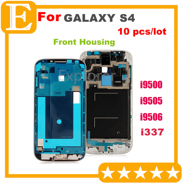 2019 OEM Front Frame For Samsung Galaxy S4 3G 4G Vs I9500 / I9505 / I9506  I337 Front Housing Replacement Screen Plate Replacement Parts From