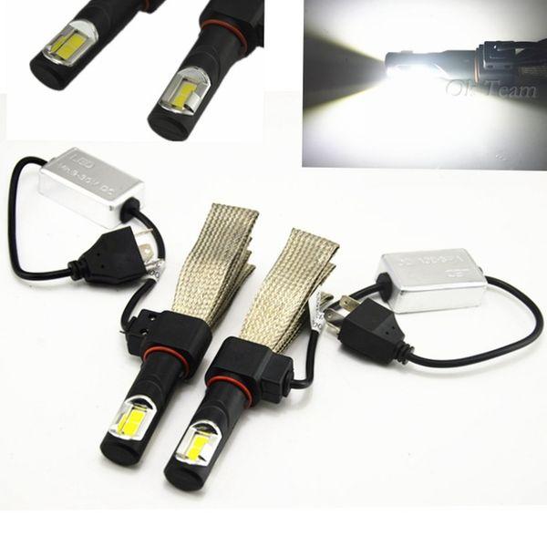 2pcs H4 LED 72W 6000K 12V / 24V CREE 8000LM voiture lampe phare blanc xénon haute basse kit ampoules globes LED tête lumière H4