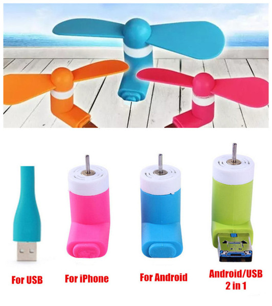 Hot Mini USB Fan Pocket USB Gadget Portable Summer Micro USB Cooling Fan 6 Colors For Iphone Android OTG Phones Power Bank Laptop