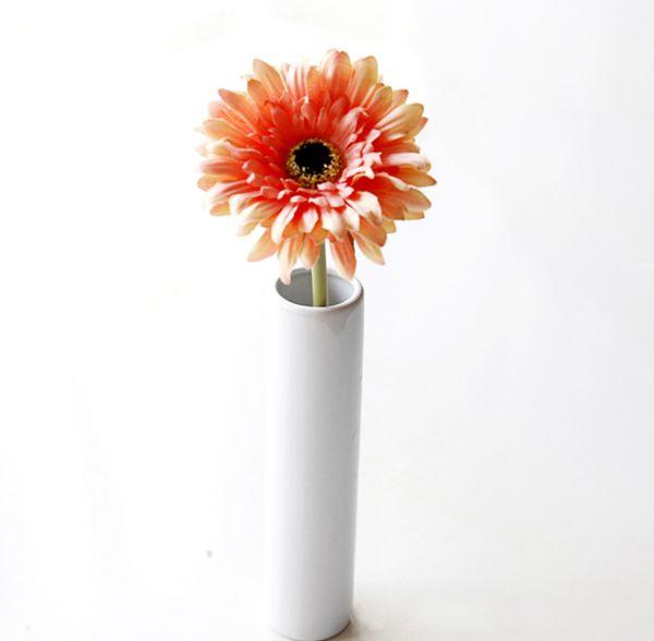 """20pcs MOQ Silk Sunflower Bridal Bouquet 4"""" head Gerbera Daisy Artificial Flower Wedding Home Decor Festive Party Supplies Decorative Flowers"""