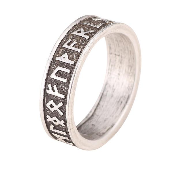 Оптовая продажа-1 шт. мужские Viking Руна кольцо скандинавский алфавит кольца руническая печатка ювелирные изделия Bague мужчины кольцо Bague