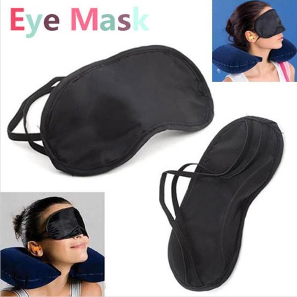 best selling 2500pcs Eye Sleep Masks Eye Mask Shade Nap Cover Blindfold Sleeping Sleep Travel Rest H1996 Black
