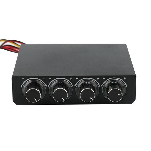 Perakende Kutusu ile STW STW-600 3.5 inç PC Kasa PC HDD CPU 4 Kanal Fan Hızı Kontrolörü LED Hız Fan 3PIN 4PIN Kontrol Soğutma Ön Panel