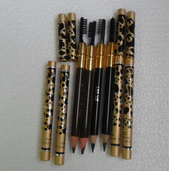 Top quality makeup,Free Shipping 24pcs/Lot New Perfect Waterproof Long lasting Eyeliner Eyebrow Eye Brow Pencil & Brush Makeup