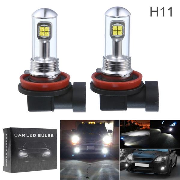 H11 Led Fog Light Bulbs Car Daytime Running Lights Auto Drl Driving Lamp 12v 24v 6000k White Clt 10c Automotive Lights Bulbs Automotive Lights Led