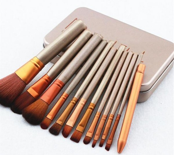 New Hot makeup 12 Pcs set brush N3 Makeup Brush kit Sets for eyeshadow blusher Cosmetic Brushes TooL DHL Free