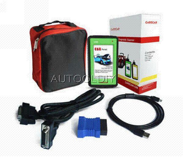 Super Performance DHL Free Shipping 100% Original CareCar C68 professional car diagnostic tool DIY auto scanner like X431 Diagun