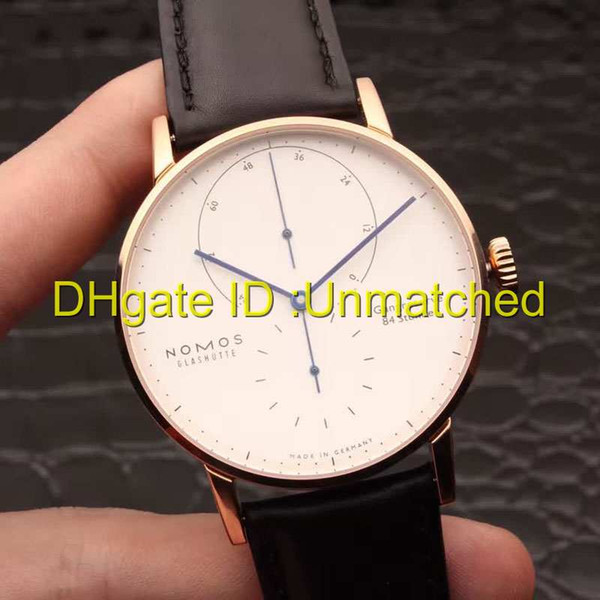 High quality Luxury Watches Business leisure automatic mechanical Wristwatch leather strap 316 Stainless Steel Case NOMOS LAMBDA mens watch
