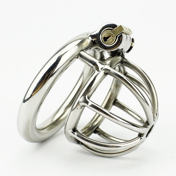 M730 Latest Design SMALL MALE Chastity Devices Stainless Steel Metal Chastity Belt #T701