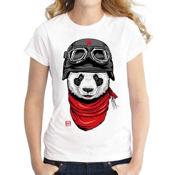 Wholesale- 2017 Women Summer Novelty Animal Design T shirt Fashion Cute Panda Printed Tops Hot Sales Tee Shirts