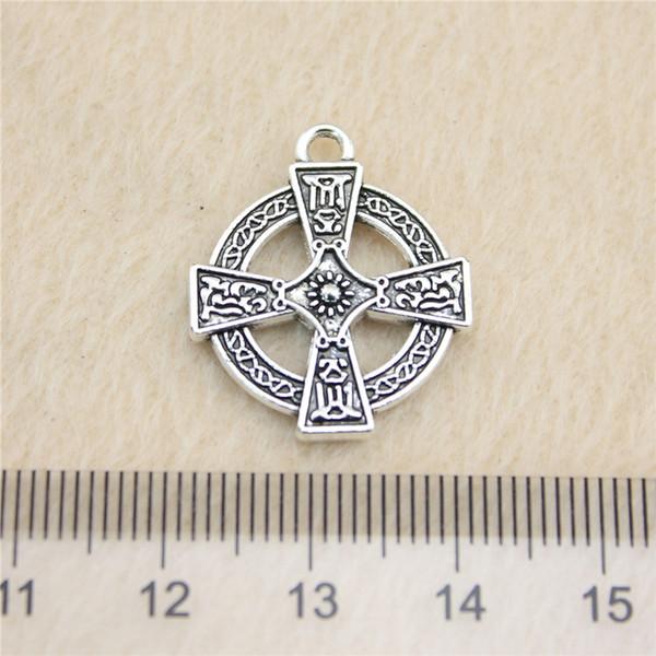 20 Adet 23 * 20mm antik Gümüş Tonecross Charms Çinko Alaşım DIY El Yapımı Takı Kolye Toptan B12150