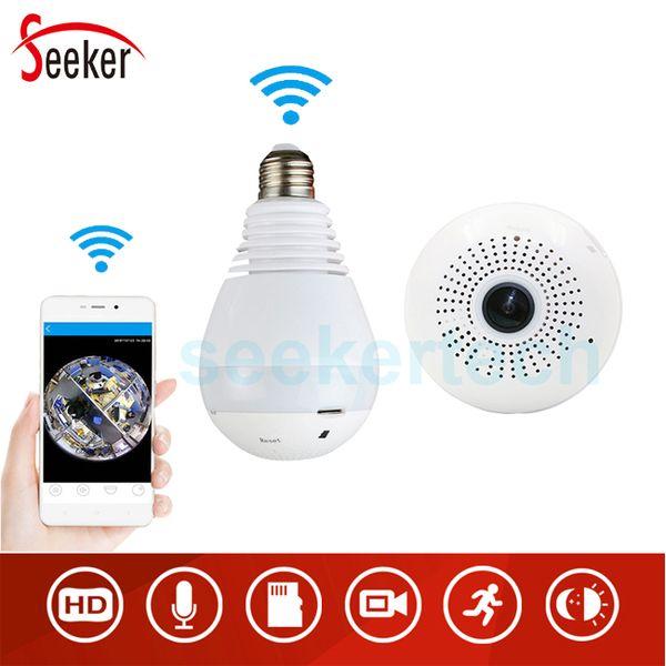 960P 1080P 360 degree Wireless IP Camera LED Bulb Light Fisheye Smart Home CCTV 3D VR Camera 1.3MP Home Security WiFi Camera Panoramic