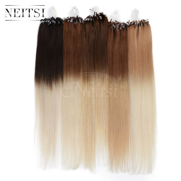 Neitsi 20 50g 1gs Micro Loop Ring Human Hair Extensions 100 Remy
