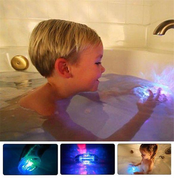 Colorful Bathroom LED Light Toys Baby Kids Funny Bathing Toys Waterproof in Tub Light Waterproof Bath Tub Beautiful Lamp