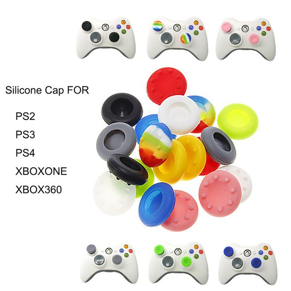 best selling Anti-Skid Silicone Cap for PS2 PS3 PS4 XBOXONE XBOX360 Thumb Stick Joystick Grip Rubber Cover 11 Colors