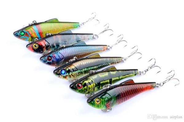 6 pz di Bionic vib Fishing Lure Esca Artificiale Wobbler 7 cm, 9g Lure Richiamo Swimbaits Pesca Fishing Tackle Ganci