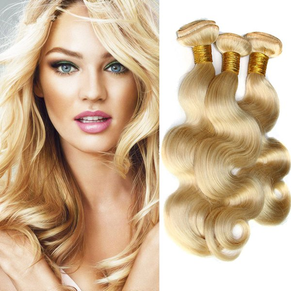 Brazilian Human 613 Blonde Hair Extensions Unprocessed Human Hair