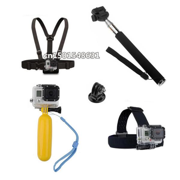 For Gopro Accessories Monopod Tripod Mount Adapter Chest Head Strap For Gopro Camera Hero 3 4 3+SJ4000 SJ5000 SJ6000 accessories