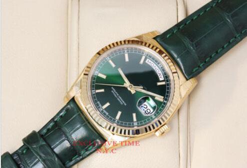 106. Hohe Qualität Männer oder Frauen neue arrivel Grünes Zifferblatt Automatische Mechanische Armbanduhr 36mm Geschenk Tagesstichtag 118138 Uhr Saphirglas