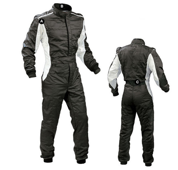 Cool Karting Suit full body Car Motorcycle jacket Racing Club Exercise Clothing Overalls Stig Suit Two Layer Waterproof moto bodysuit