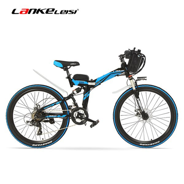 best selling K660 26 Inch Electric Bike, 500w Motor, 48V 12Ah Battery, Full Suspension High-carbon Steel Frame, Folding Electric Bicycle, Disc Brake.