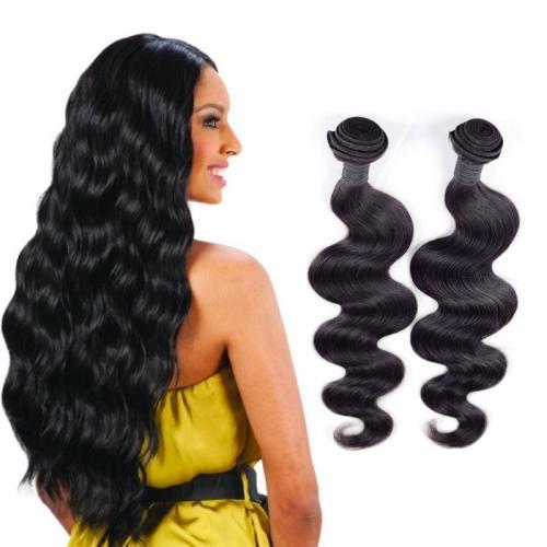 Armadura brasileña del pelo de la onda del cuerpo del pelo humano 8A Calidad paquetes sin procesar del pelo del color natural 2pcs / lot 8-30inch en la acción