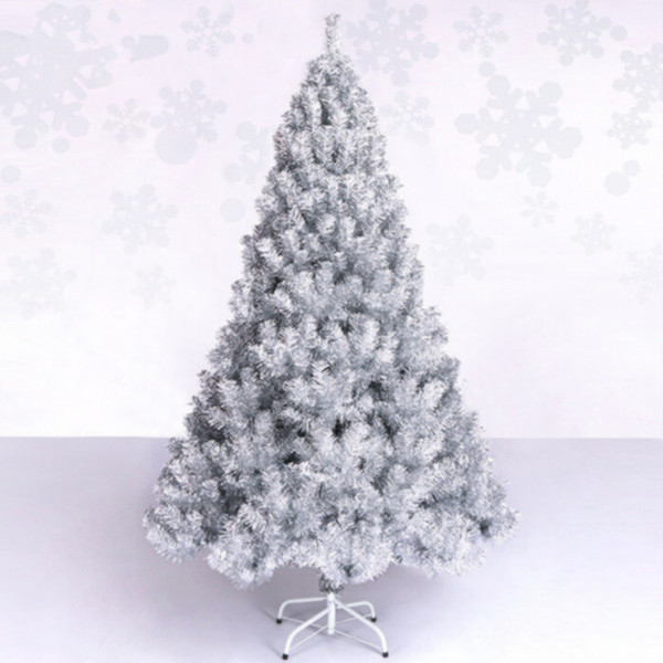 2.1 m / 210cm luxury encryption Christmas New Year silver Christmas tree ornament parlor mall bar